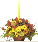 Fall Candle Centerpiece from Joseph Genuardi Florist in Norristown, PA