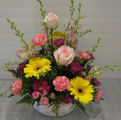 Basket of Suprises Floral Arrangement from Joseph Genuardi Florist in Norristown, PA