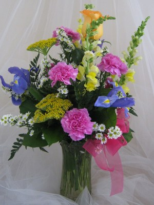 Delightfully Bright Vase Arrangement from Joseph Genuardi Florist in Norristown, PA
