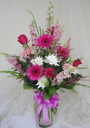 Hot Pink Paradise Vase Arrangement from Joseph Genuardi Florist in Norristown, PA