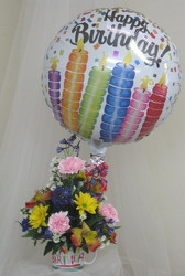 Birthday Wishes Mug with Balloon from Joseph Genuardi Florist in Norristown, PA