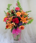 Harvest Holiday Vase Arrangment from Joseph Genuardi Florist in Norristown, PA