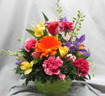 Color Me Bright Basket Arrangement