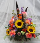 Sunflowers and Sunshine Basket Arrangement from Joseph Genuardi Florist in Norristown, PA