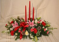 Dressed to Impress Holiday Centerpiece from Joseph Genuardi Florist in Norristown, PA