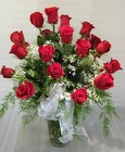 18 Red Rose Premium Vase Arrangement from Joseph Genuardi Florist in Norristown, PA
