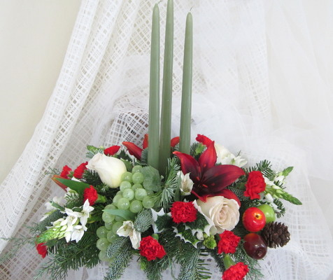 Della Robia Holiday Centerpiece from Joseph Genuardi Florist in Norristown, PA