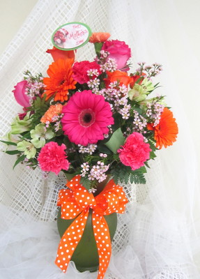 Orange Crush With a Twist of Raspberry Vase from Joseph Genuardi Florist in Norristown, PA