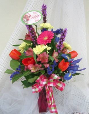 BRIGHTEN THE DAY VASE ARRANGEMENT from Joseph Genuardi Florist in Norristown, PA