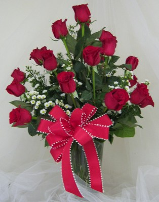Roses by the Dozen Rose Vase Arrangement-UPGRADE TO 24 OR 36 from Joseph Genuardi Florist in Norristown, PA