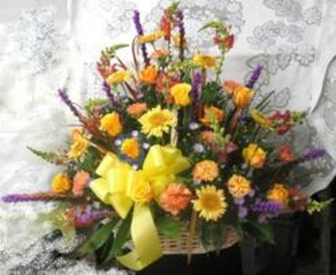Large Wicker Sympathy Basket from Joseph Genuardi Florist in Norristown, PA