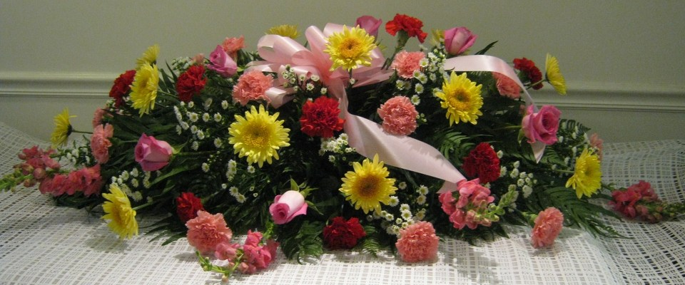 Perfect Pastels Casket Spray from Joseph Genuardi Florist in Norristown, PA