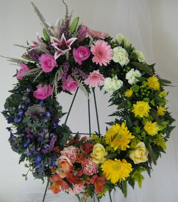 Circle of Love Sympathy Wreath from Joseph Genuardi Florist in Norristown, PA