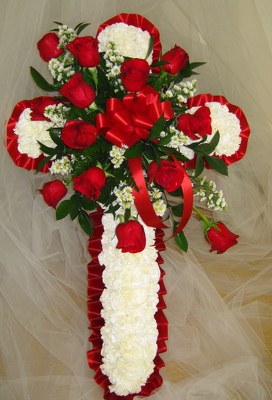 Sympathy Tribute Cross from Joseph Genuardi Florist in Norristown, PA