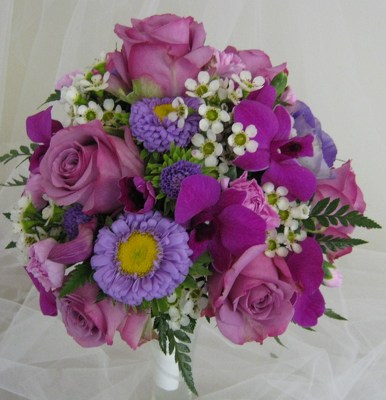 Shades of Purple Attendants Bouquet from Joseph Genuardi Florist in Norristown, PA