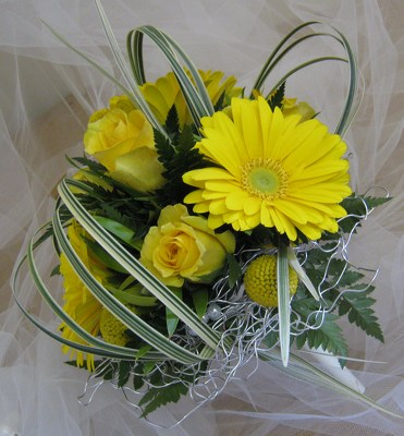 Sunshine Days Attendant Bouquet from Joseph Genuardi Florist in Norristown, PA
