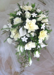Cascading Bridal Dreams Bouquet from Joseph Genuardi Florist in Norristown, PA
