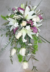 White Lily Cascading Bridal Bouquet from Joseph Genuardi Florist in Norristown, PA