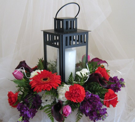 Romantic Lantern Bridal Centerpiece from Joseph Genuardi Florist in Norristown, PA