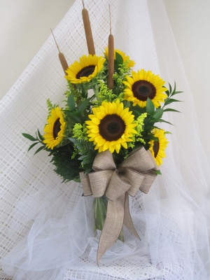 Song of the Sunflowers Vase Arrangement from Joseph Genuardi Florist in Norristown, PA