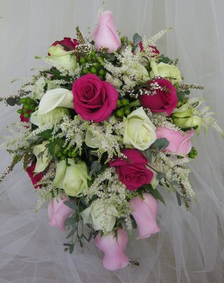 Rose Cascade Bridal Bouquet from Joseph Genuardi Florist in Norristown, PA
