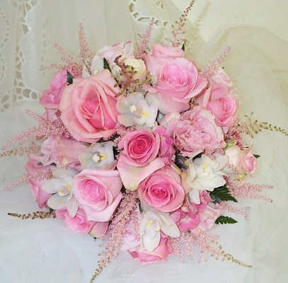 Pink Dreams Bridal Bouquet from Joseph Genuardi Florist in Norristown, PA