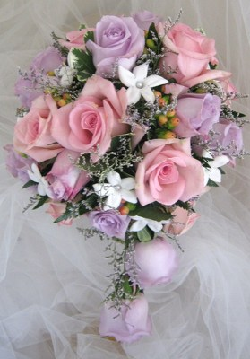 Lavander and Pink Bridal Bouquet from Joseph Genuardi Florist in Norristown, PA