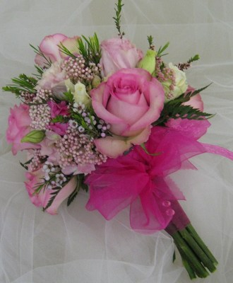 Perky Pinks Dainty Nosegay from Joseph Genuardi Florist in Norristown, PA