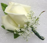 Traditional Rose Boutonniere from Joseph Genuardi Florist in Norristown, PA