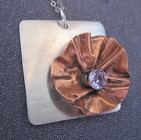 Mixed Metals sterling and copper pendant necklace from Joseph Genuardi Florist in Norristown, PA