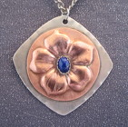 Mixed Silver and Copper Lapis Gemstone Necklace from Joseph Genuardi Florist in Norristown, PA