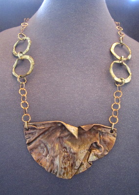 Modern Metals Statement Necklace from Joseph Genuardi Florist in Norristown, PA