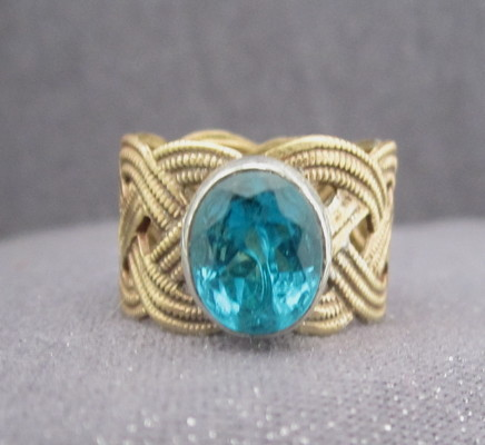 Aqua Blue Gemstone Ring from Joseph Genuardi Florist in Norristown, PA