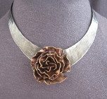 Mixed Metals Floral Choker Necklace from Joseph Genuardi Florist in Norristown, PA