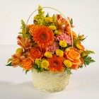 Autumn Sunset Basket Arrangement