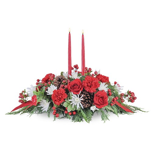 Christmas Table from Joseph Genuardi Florist in Norristown, PA