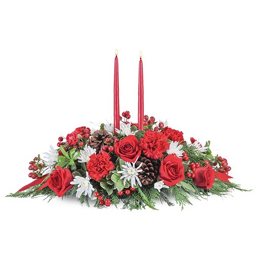 Yuletide Table from Joseph Genuardi Florist in Norristown, PA