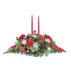 Double Candle Centerpiece  from Joseph Genuardi Florist in Norristown, PA