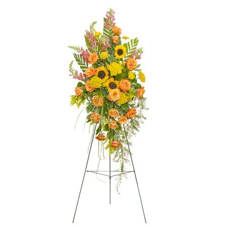Heaven's Sunset Standing Spray from Joseph Genuardi Florist in Norristown, PA