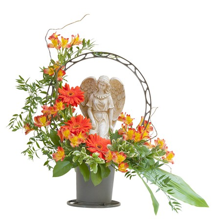 Heaven's Sunset Angel Basket from Joseph Genuardi Florist in Norristown, PA