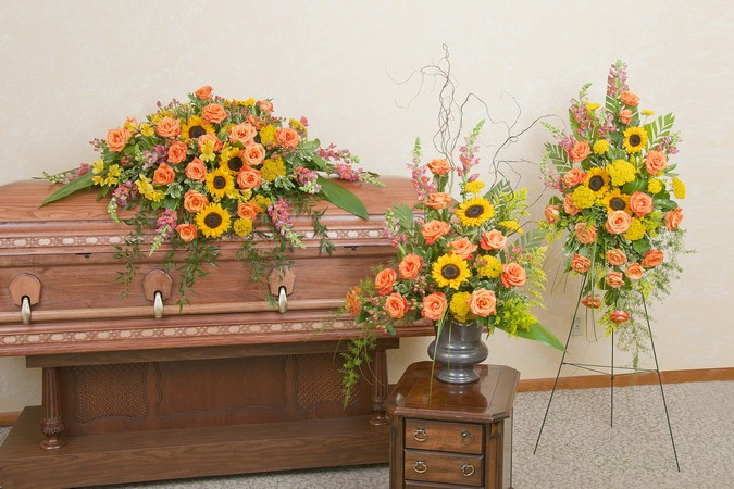 Heaven's Sunset Trio from Joseph Genuardi Florist in Norristown, PA