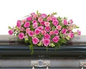 Peaceful Pink Casket Spray from Joseph Genuardi Florist in Norristown, PA