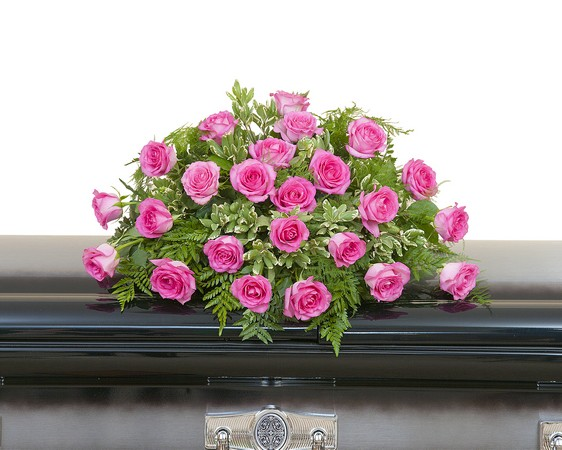 Pink Rose Casket Spray from Joseph Genuardi Florist in Norristown, PA