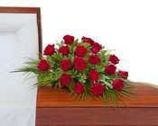 Simply Roses Casket Spray from Joseph Genuardi Florist in Norristown, PA