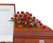 Simply Roses Standard Casket Spray from Joseph Genuardi Florist in Norristown, PA