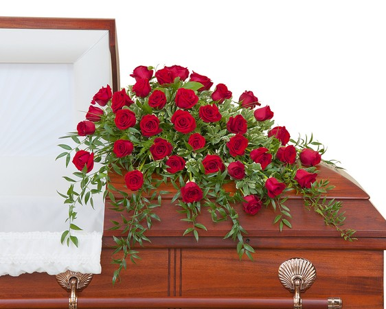 Simply Roses Deluxe Casket Spray from Joseph Genuardi Florist in Norristown, PA