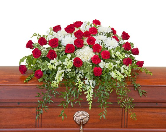 Enduring Strength Casket Spray from Joseph Genuardi Florist in Norristown, PA