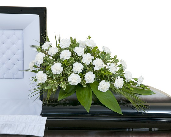 Simple Love Casket Spray from Joseph Genuardi Florist in Norristown, PA
