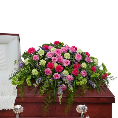 Forever Cherished Casket Spray from Joseph Genuardi Florist in Norristown, PA
