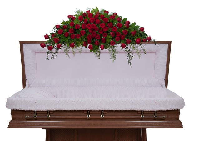 Royal Rose Full Casket Spray from Joseph Genuardi Florist in Norristown, PA